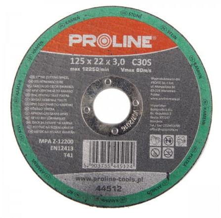 PROLINE TARCZA DO CIĘCIA KAMIENIA C30S, 125 X 6,0 MM