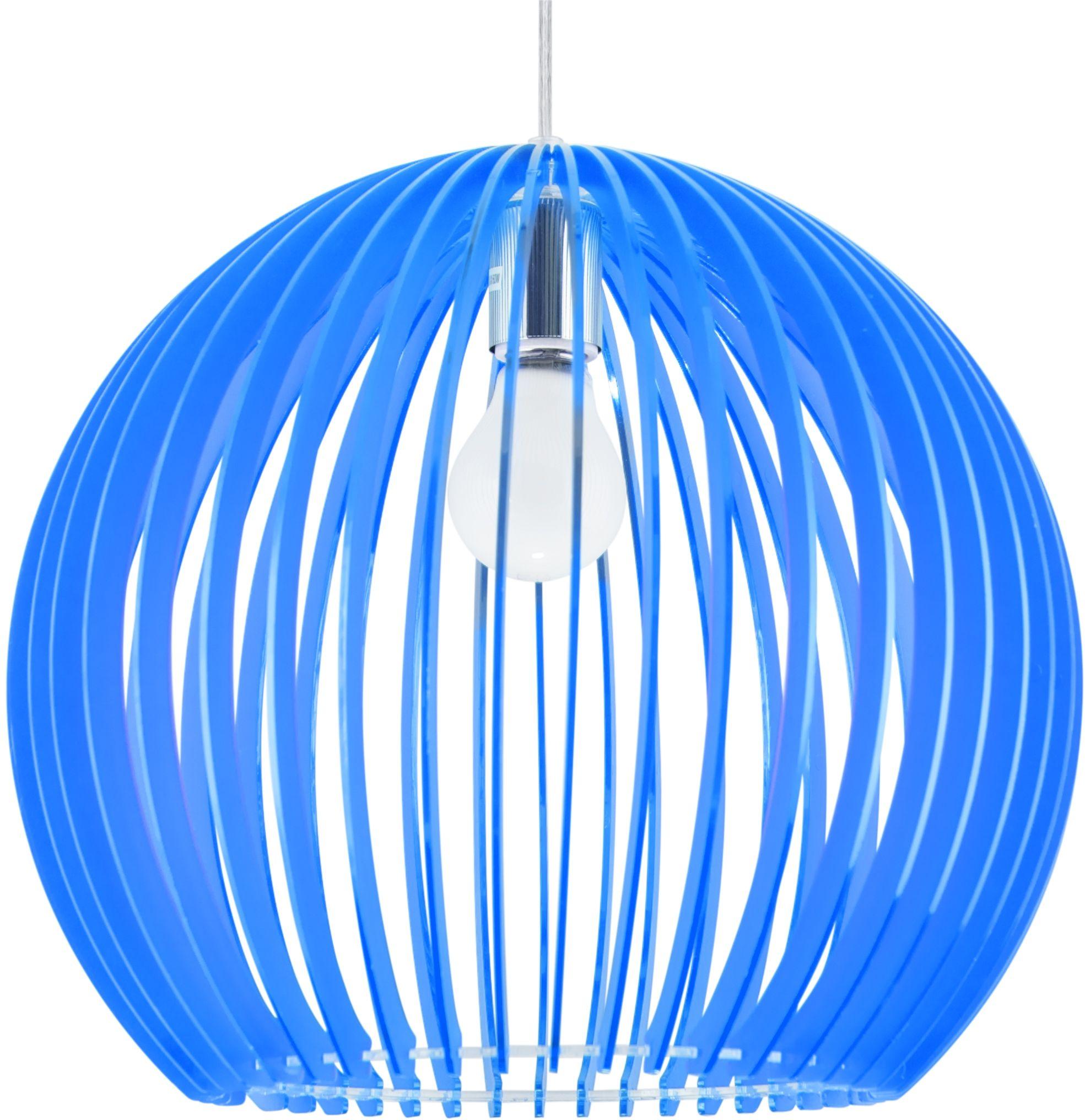 Candellux HAGA 31-50345 lampa wisząca niebieski akrylowy klosz 1X60W E27 36 cm