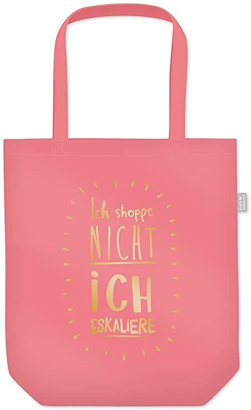 Grafik warsztat torba na zakupy z zabawnym powiedzeniem składana torba na zakupy lekka torba, różowy - Flamingo Pink (różowy) - 62017