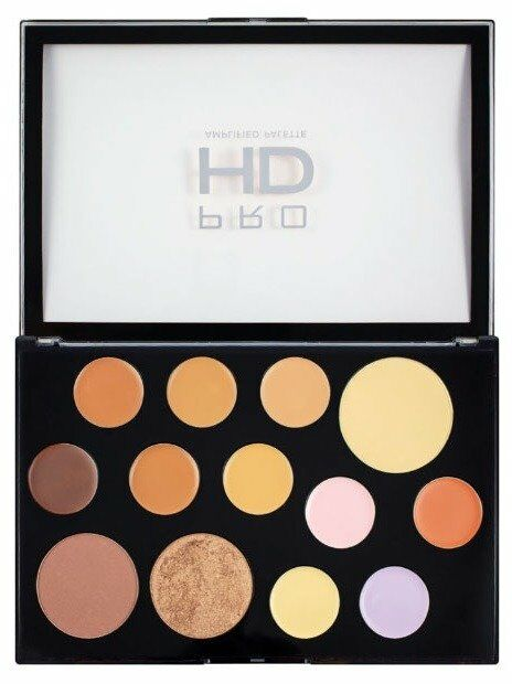 Makeup Revolution Pro HD The Works Palette Medium/Dark Paleta do konturowania twarzy