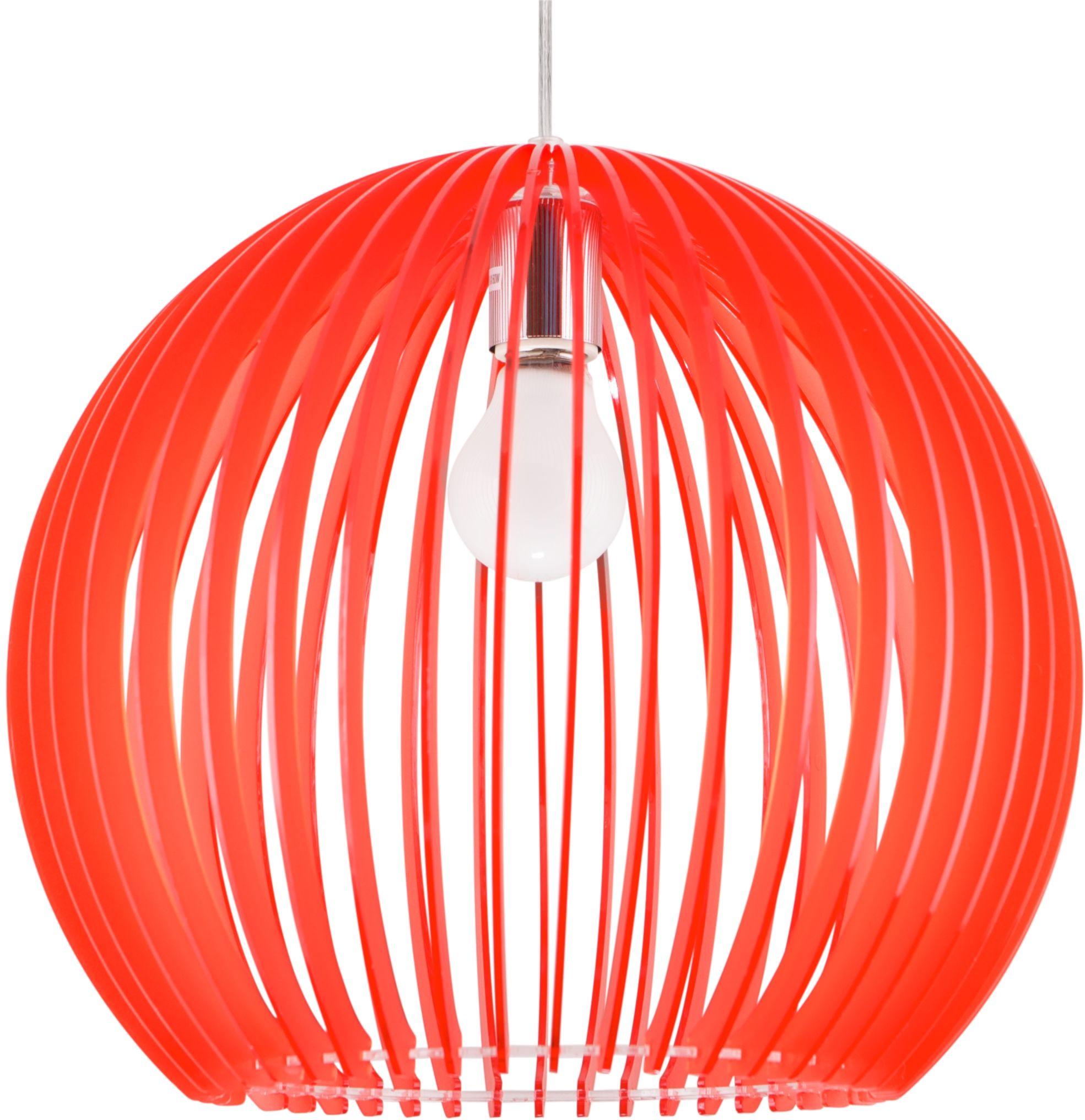 Candellux HAGA 31-50413 lampa wisząca czerwony akrylowy klosz 1X60W E27 36 cm