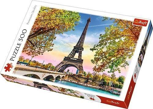 Puzzle TREFL 500 - Romantyczny Paryż, Romantic Paris