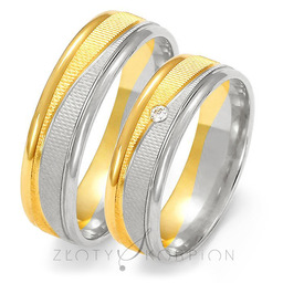 Obrączki ślubne Złoty Skorpion  wzór Au-OE189