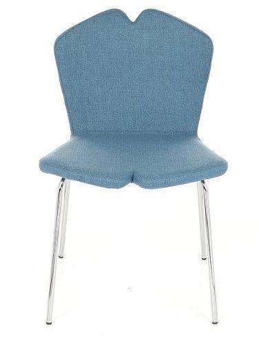Krzesło X Steel, tapicerowane, na metalowych nóżkach, do jadalni, do kawiarni, wygodne, w stylu skandynawskim