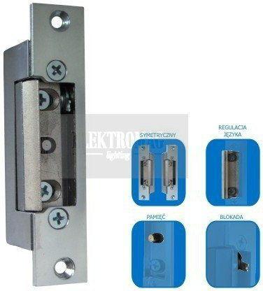 Elektrozaczep standardowy z pamięcią i blokadą SCOT ES-S12ACDC-MB