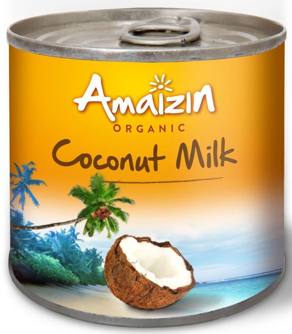 Napój Kokosowy w Puszce Coconut Milk 17% Tłuszczu BIO 200ml - Amaizin