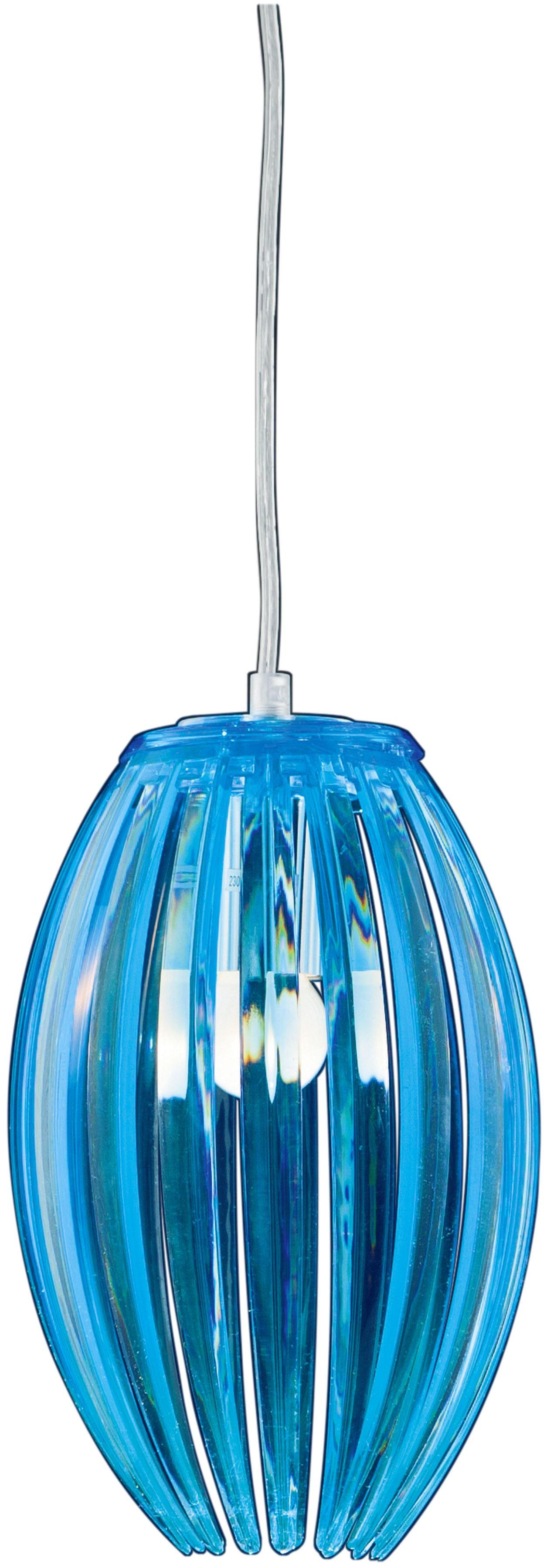 Candellux ABUKO 31-55296 lampa wisząca niebieski klosz akryl 1X60W E27 18 cm