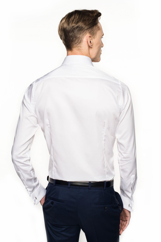 koszula versone 2517 na spinki slim fit biały