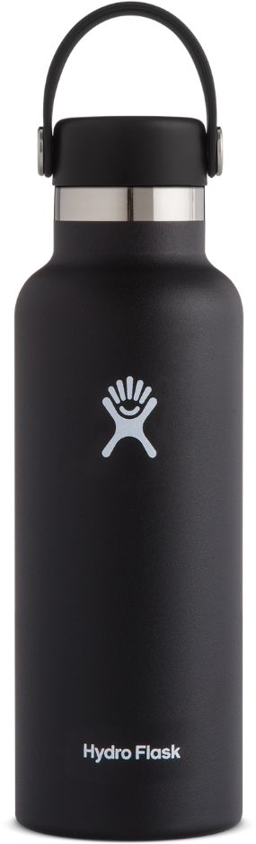 Butelka termiczna 532 ml Standard Mouth flex Cap Hydro Flask - black - black