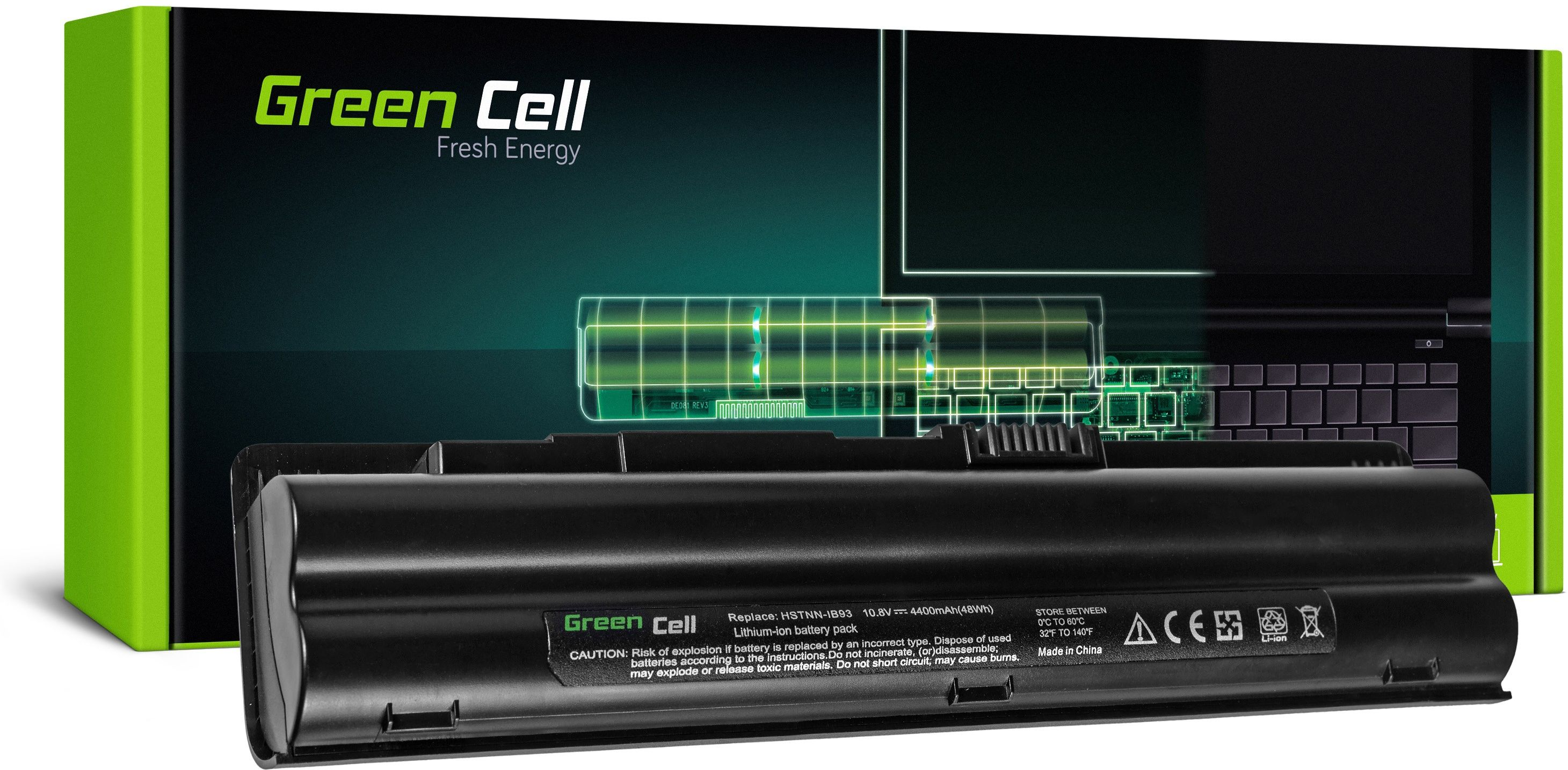 Bateria Green Cell do HP Pavilion DV3-2000 Compaq CQ35 CQ36