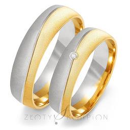 Obrączki ślubne Złoty Skorpion  wzór Au-OE190
