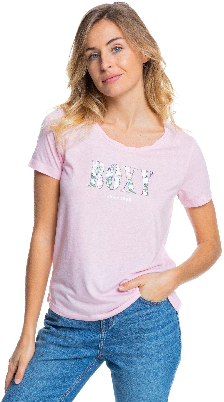 t-shirt damski ROXY CHASING THE SWELL B TEE Pink Mist - MDZ0