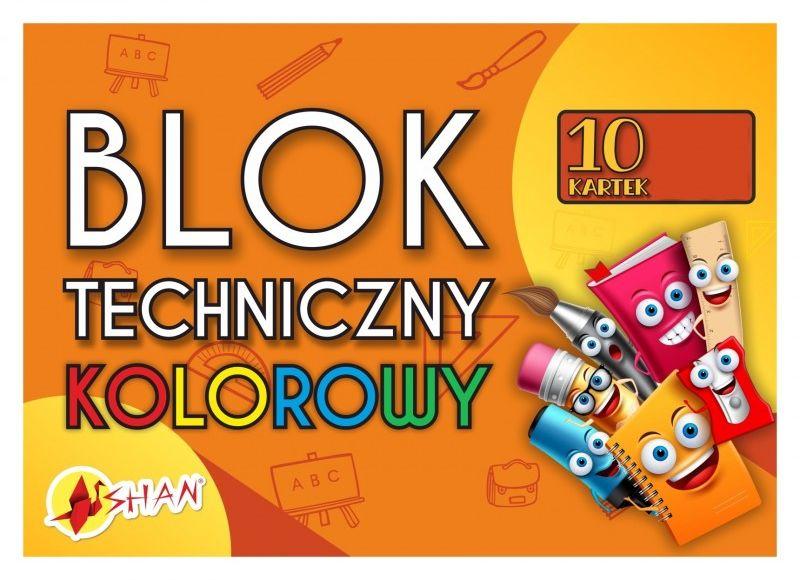 Blok techniczny kolorowy 1907-BL TK 8991024, Format: A3 ( 29.7x42 cm)