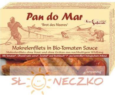 Makrela w BIO sosie pomidorowym 120g Pan do Mar