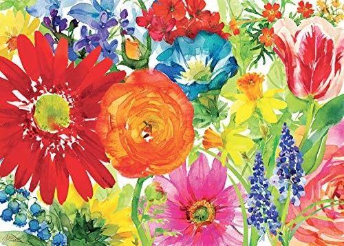 Puzzle Ravensburger 1000 - Bujność kwiatów, Abundant Blooms
