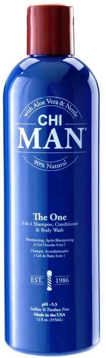 CHI MAN 3w1 męski szampon odżywka żel z OUD 355ml