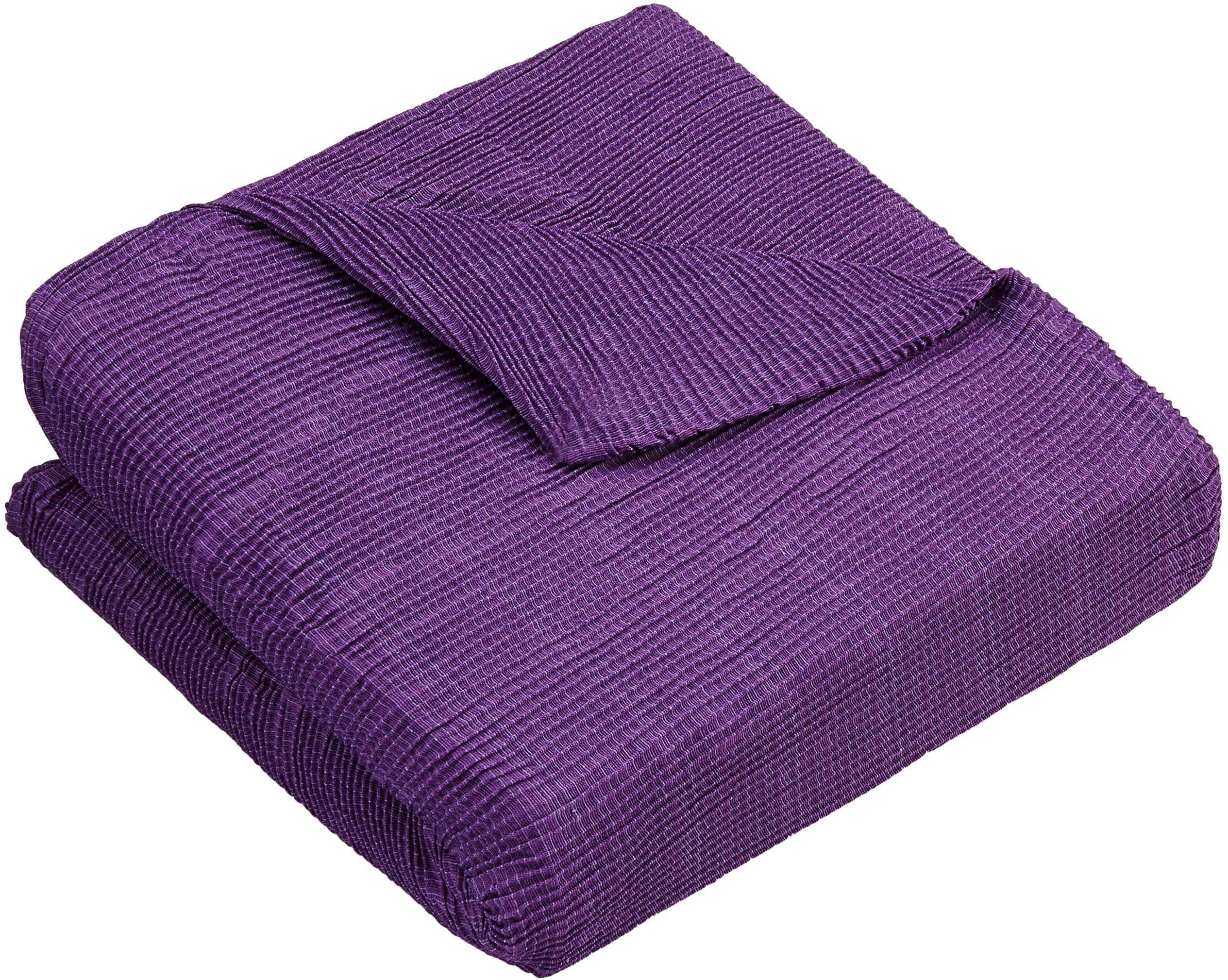Zebra sofa tekstylna, fioletowa