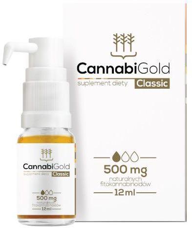 CannabiGold Classic olej z ekstraktem z konopi włóknistych 500mg 12 ml