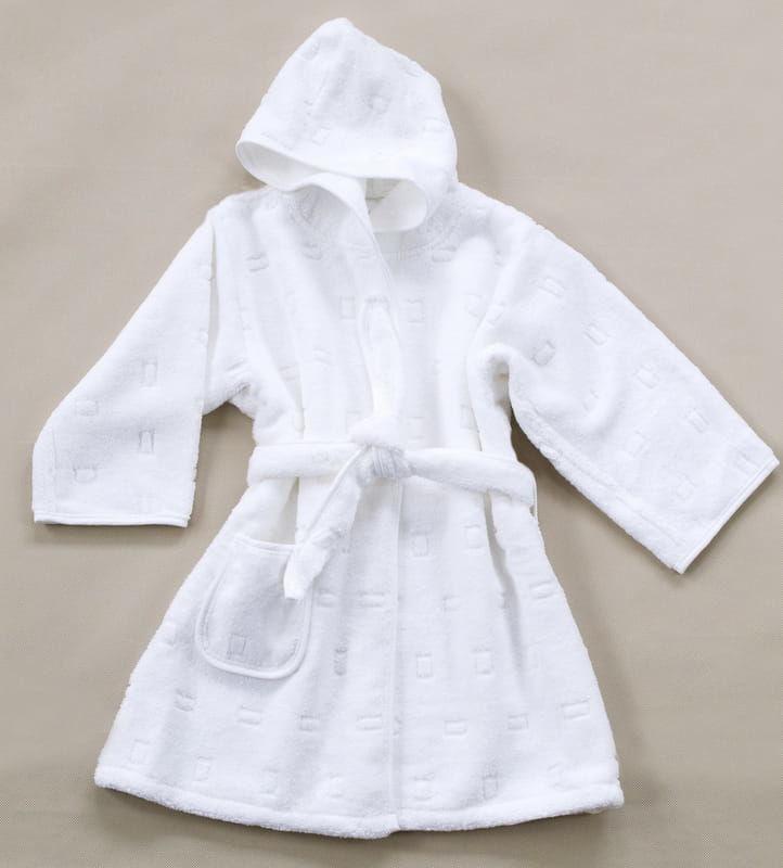 Szlafrok dla Dzieci Greno Biały rozmiary od 1,5 do 12 lat