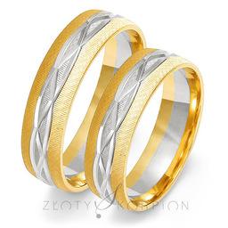 Obrączki ślubne Złoty Skorpion  wzór Au-OE191