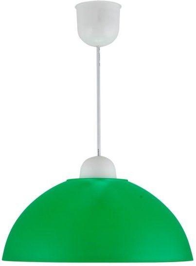 Candellux MIKA 31-18635 lampa wisząca zielona półkulisty klosz E27 1X60W 28 cm
