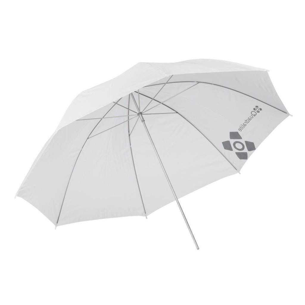 Parasolka biała przezroczysta 120cm Quadralite