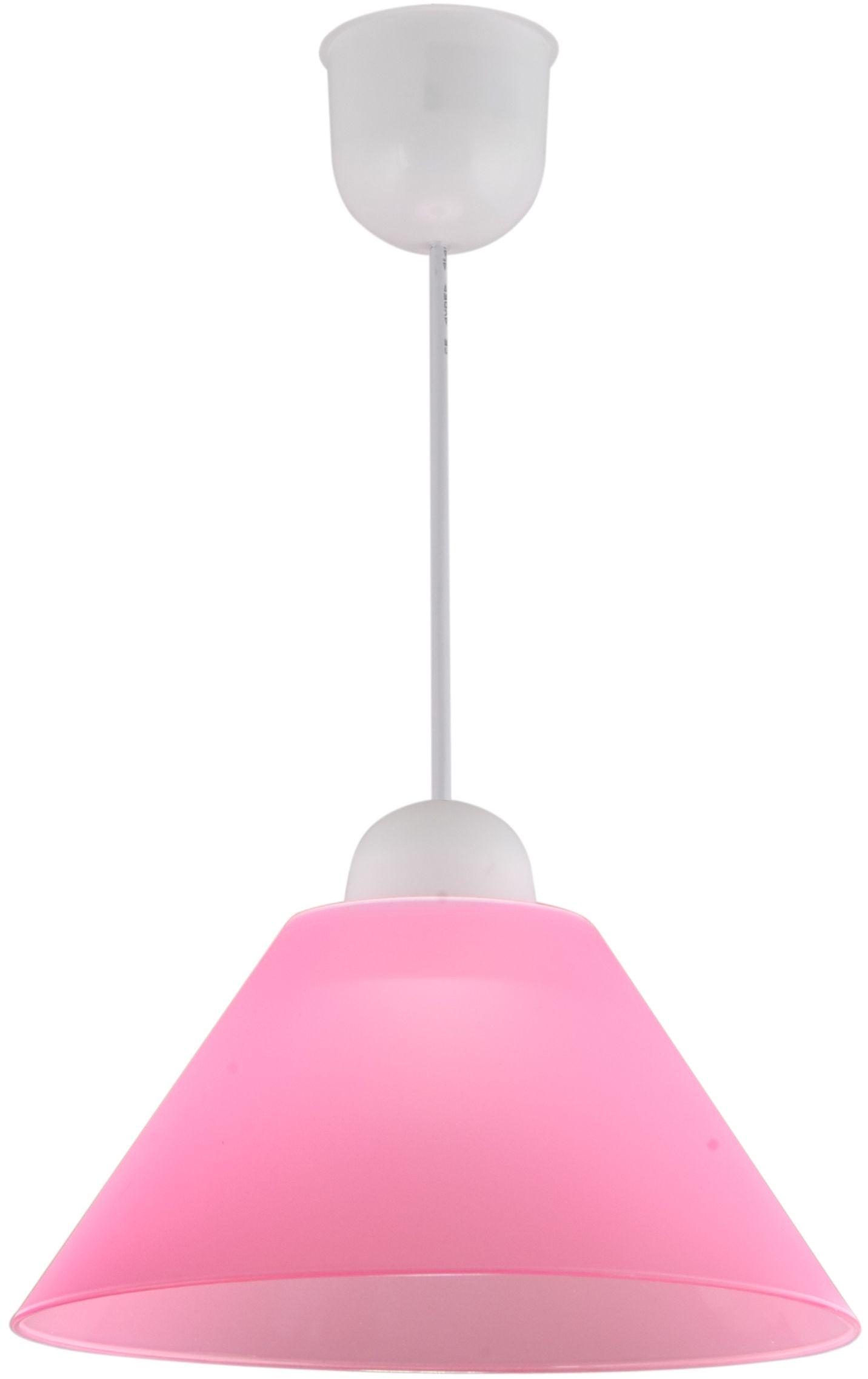 Candellux FAMA 31-20157 lampa wisząca abażur tworzywo sztuczne różowy E27 1X60W 25 cm