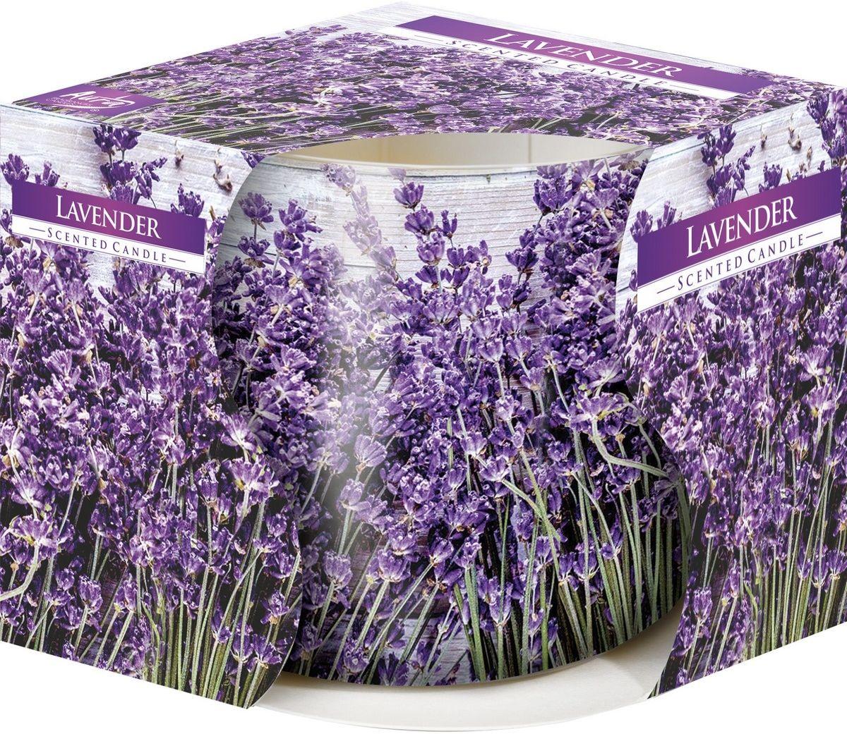 Świeczka zapachowa w szkle Lavender 100 g, 7,2 cm