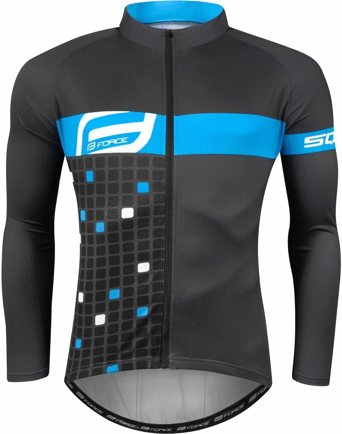 FORCE SQUARE Koszulka rowerowa z długim rękawem szaro niebieska 9001392 Rozmiar: 3XL,forcesquare9001392