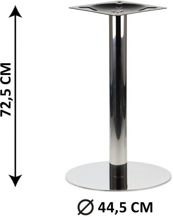 Podstawa stolika SH-3001-5/P, fi 44,5 cm, stal nierdzewna polerowana (stelaż stolika)