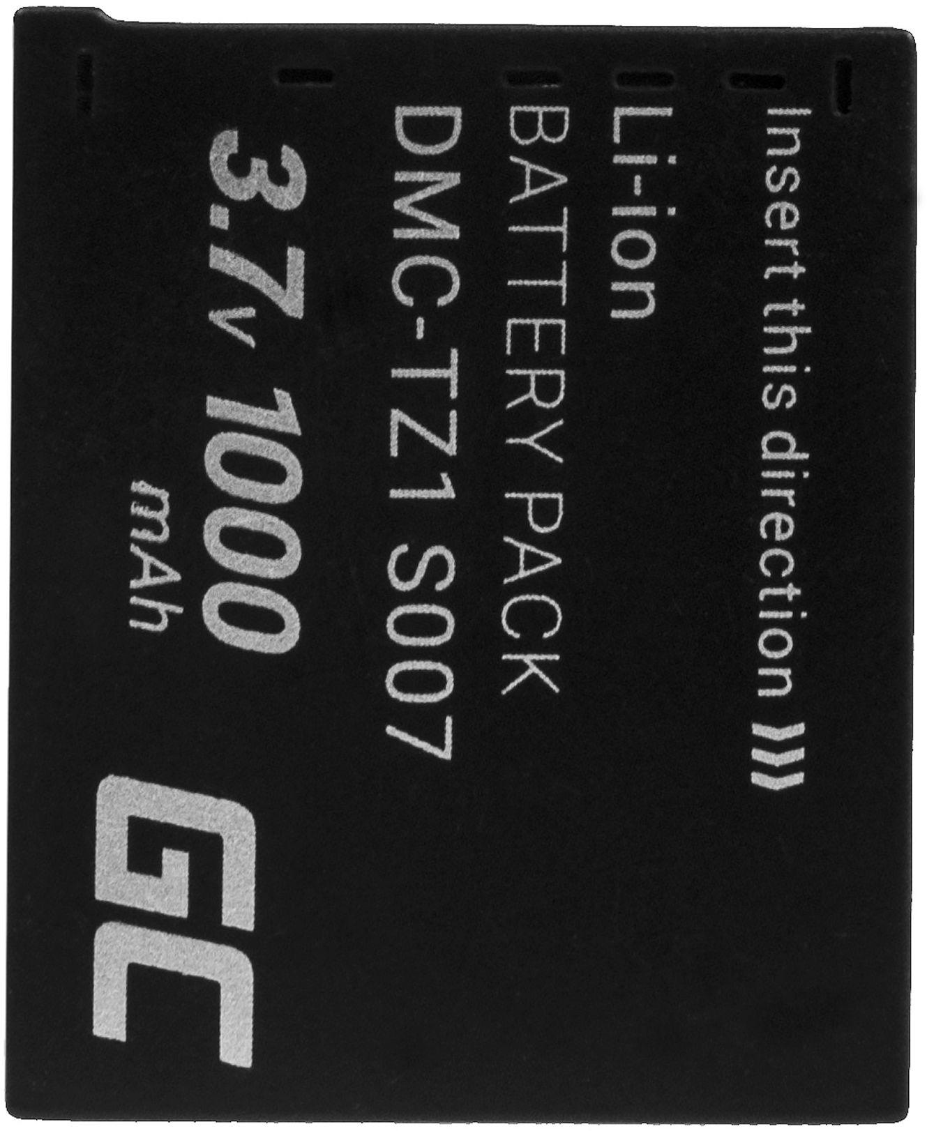 Akumulator Bateria Green Cell  CGA-S007E CGA-S007 do Panasonic Lumix DMC TZ1 TZ2 TZ2GK TZ3 TZ3A TZ3K TZ4 TZ5 TZ11 3.7V 1000mAh