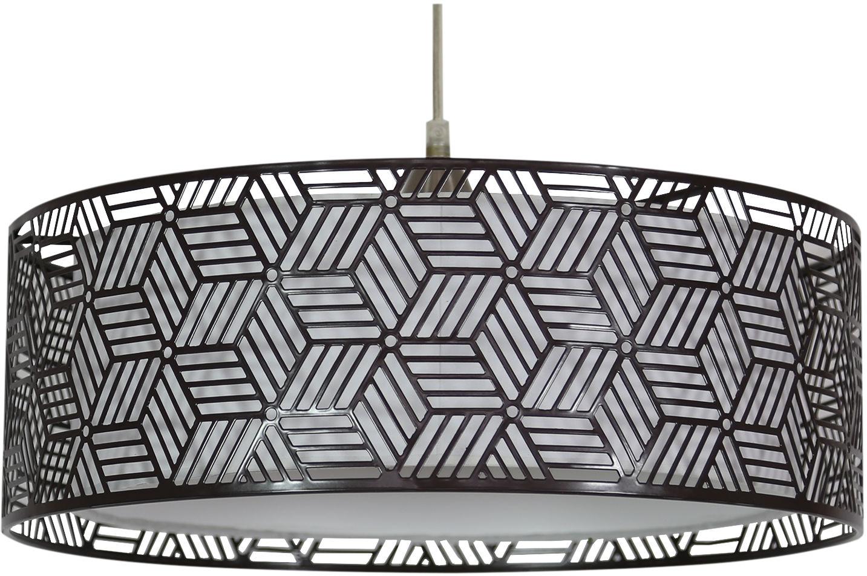 Candellux BROWN 31-58836 lampa wisząca podwójny abażur metalowy+wewnętrzny tkanina brązowy 1X60W E27 40 cm