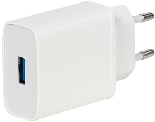 Vivanco Super Fast 18W QC 3.0 (biały) + kabel USB-C