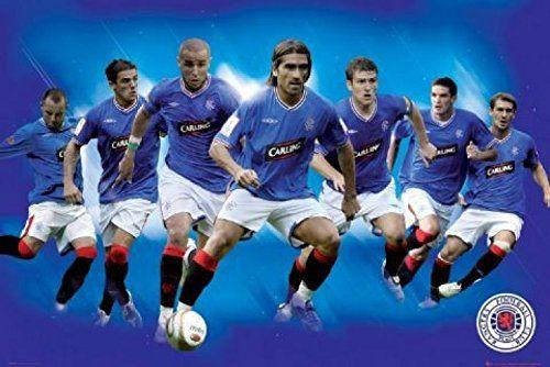 1art1 48629 piłka nożna - F.C. Rangers, gracze 09/10 plakat 91 x 61 cm