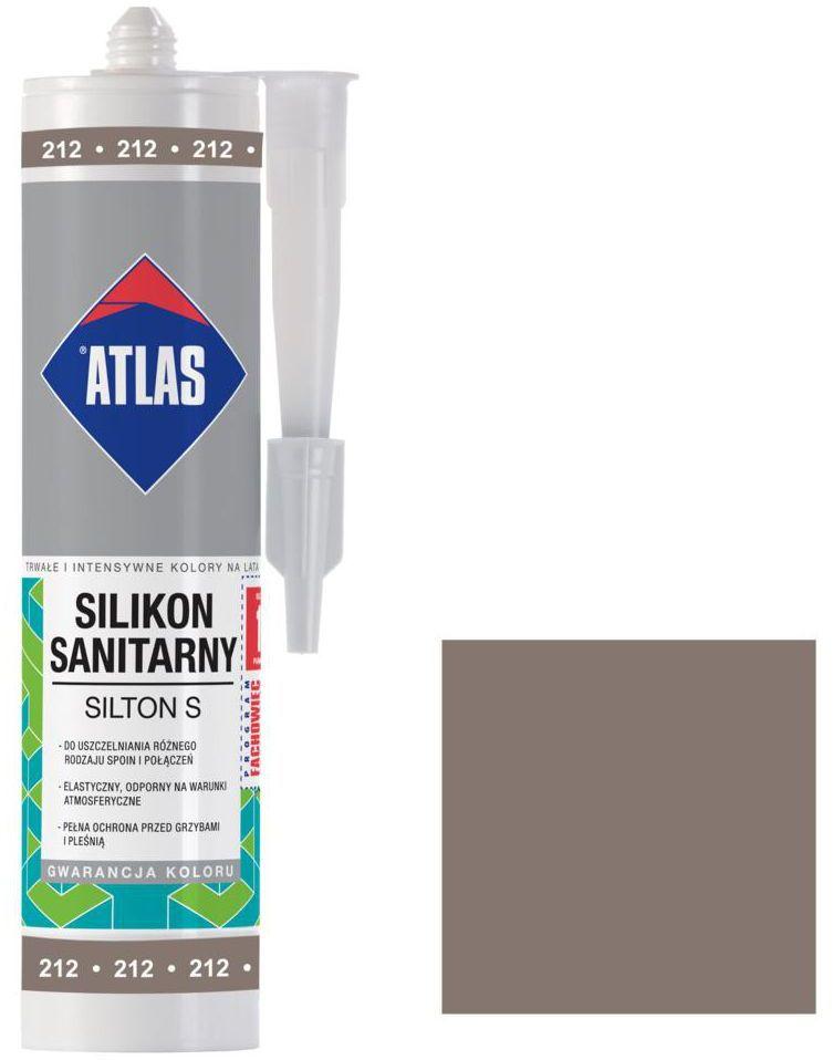 Silikon sanitarny 212 280 ml Szarobrązowy ATLAS