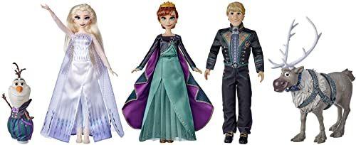 Disney Kraina lodu 2 Wielka Kraina lodu II Finale Set, Anna, Elsa, Kristoff, Olaf i Sven z strojem i akcesoriami, od 3 lat