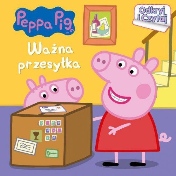 Świnka Peppa Odkryj i Czytaj Ważna przesyłka