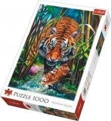 Puzzle TREFL 1000 - Drapieżny tygrys, Grasping tiger