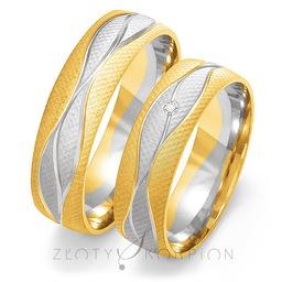 Obrączki ślubne Złoty Skorpion  wzór Au-OE193