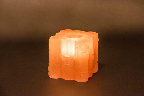 Świecznik solny kwadratowy wzorek