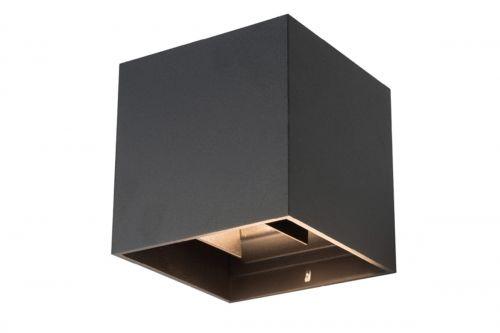 Kinkiet elewacyjny LED RIKO 2x4W 3000K czarny