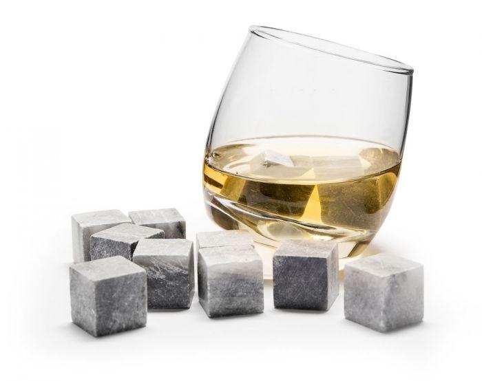 Sagaform CLUB Bujające Szklanki do Whisky, Drinków z Kamieniami Chłodzącymi 6 Szt.