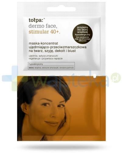 Tołpa Dermo Face Stimular 40+ maska-koncentrat ujędrniająco-przeciwzmarszczkowa na twarz szyję dekolt i biust 2x6 ml