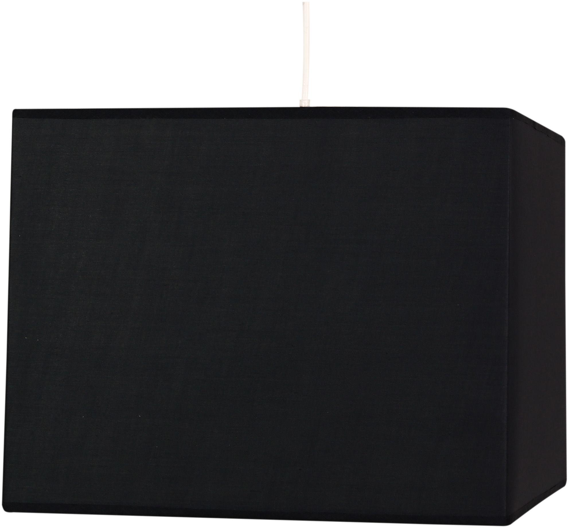 Candellux BASIC 31-06073 lampa wisząca kwadratowy abażur czarny 1X60W E27 30 cm