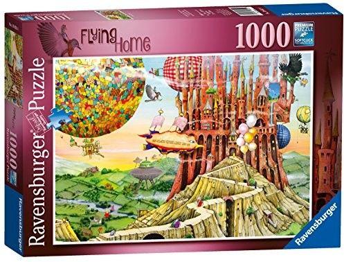 Puzzle Ravensburger 1000 - Colin Thompson - Flying Home, Lot do domu