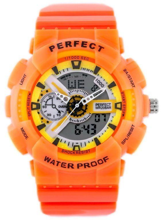 ZEGAREK MĘSKI PERFECT SHOCK (zp219f) - orange