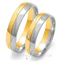 Obrączki ślubne Złoty Skorpion  wzór Au-OE194