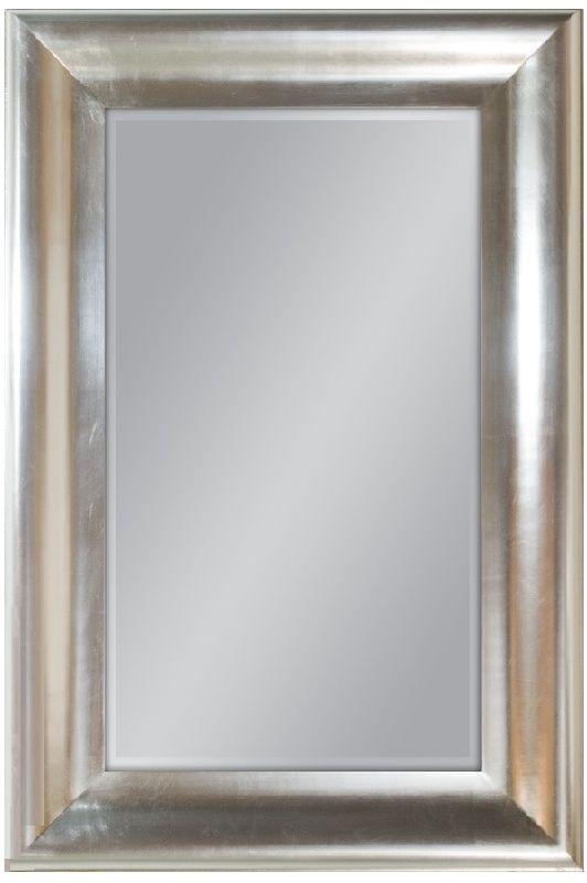 Lustro ścienne w srebrnej ramie 80x120