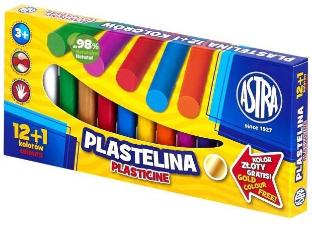 Plastelina 12+1 kolorów ASTRA - ASTRA papiernicze