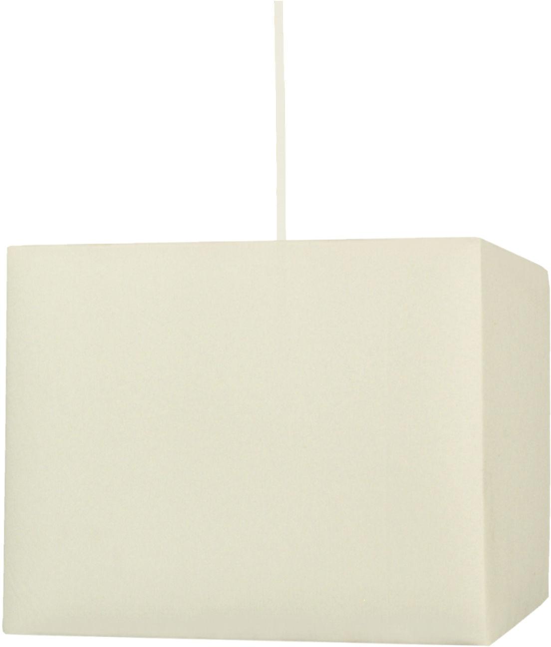 Candellux BASIC 31-06059 lampa wisząca kwadratowy abażur kremowy 1X60W E27 30 cm